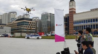 LG유플러스, AI 음성인식 기반 5G 드론 선보여